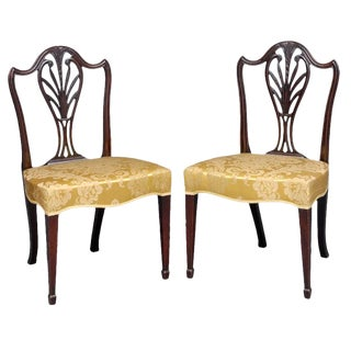 English Pair of Period Hepplewhite Side Chairs For Sale
