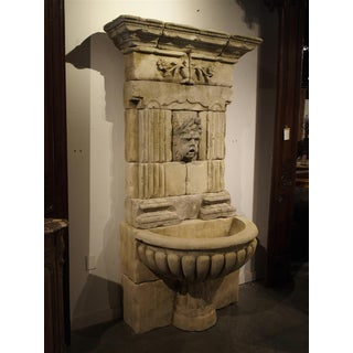 Large Carved Limestone Wall Fountain From France Preview