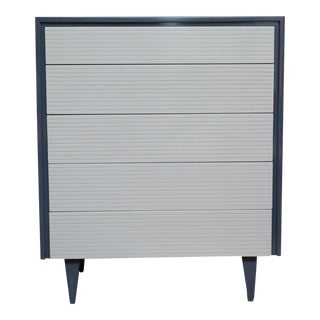 Two Tone Lacquered Mid-Century Modern Tall Dresser