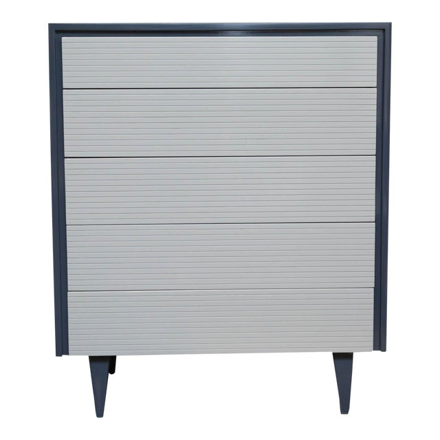 Two Tone Lacquered Mid-Century Modern Tall Dresser - Image 1 of 9