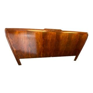 Baker Furniture Crotched Mahogany King Headboard For Sale