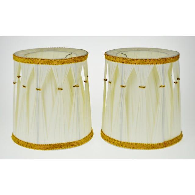 Vintage Hollywood Regency Drum Lamp Shades - A Pair - Image 2 of 6