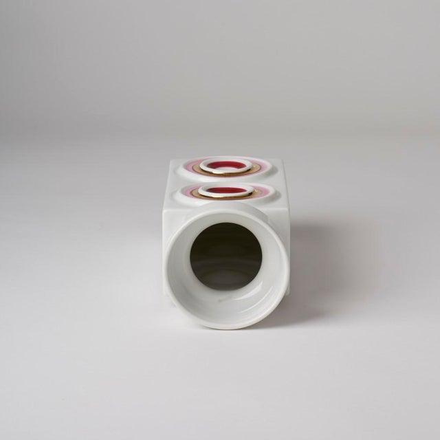 Mid-Century Modern Mid Century/Op Art Vase For Sale - Image 3 of 5