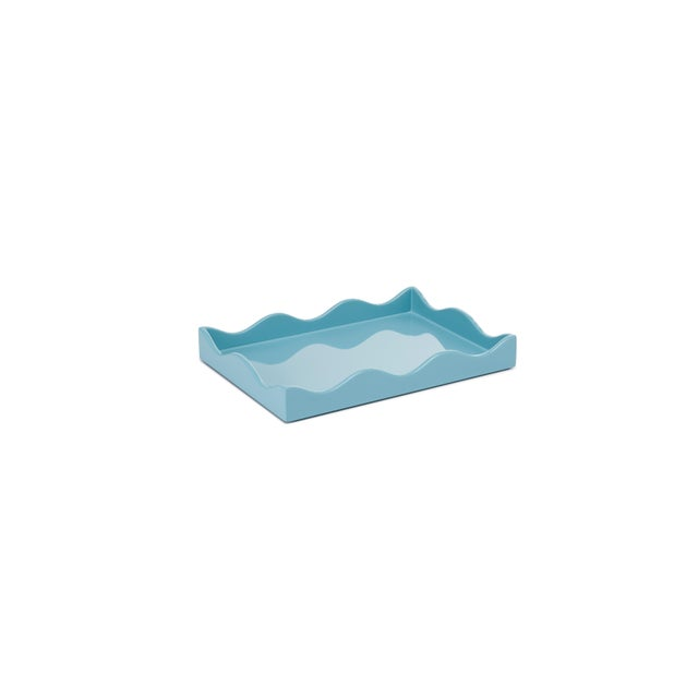 Contemporary Rita Konig Collection Small Belles Rives Tray in Bluebird For Sale - Image 3 of 3