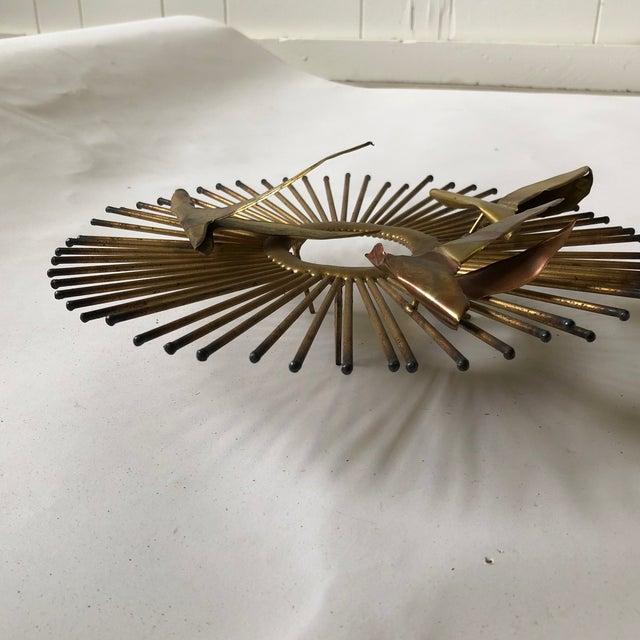 Mid Century Brass Sunburst Jere Style Sculpture For Sale In Atlanta - Image 6 of 10