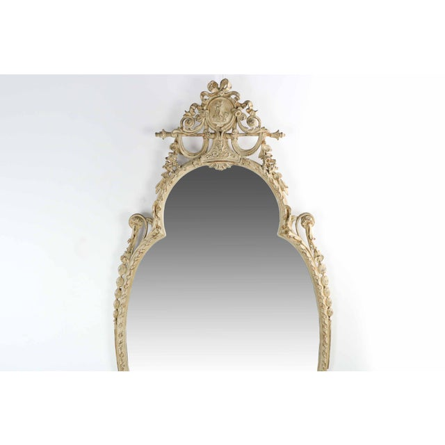Adam's Style Cream Painted Wall Mirrors - A Pair - Image 2 of 10
