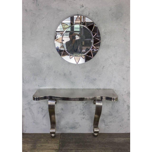 French Polished Steel Console - Image 10 of 11