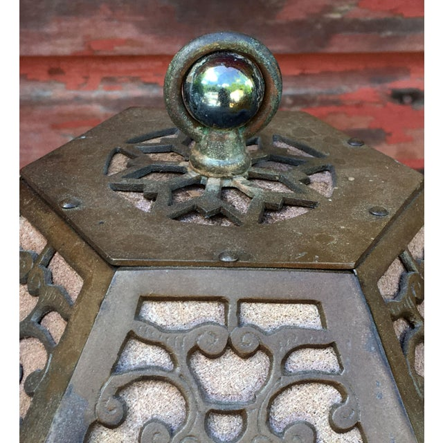 Metal 1920's American Arts & Crafts Movement Bronze Table Lamp For Sale - Image 7 of 9