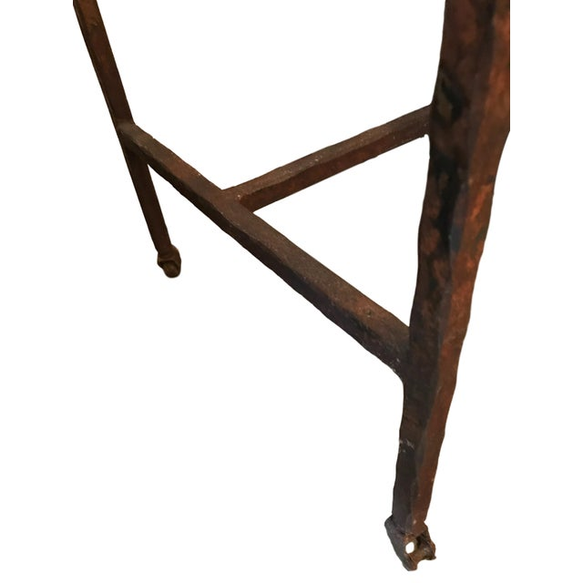 Wrought Iron Church Offerings Console For Sale - Image 9 of 9