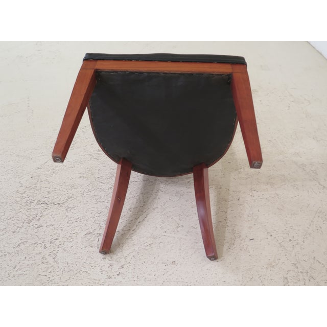1940s Vintage Biedermeier Style Cherry Side Chair For Sale - Image 9 of 10