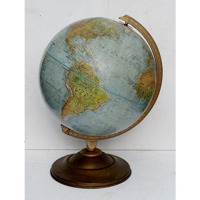 Vintage World Book Globe by Replogle on Stand - Image 2 of 10