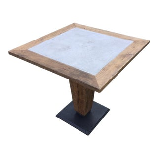 Concrete-Wood Dining Table For Sale