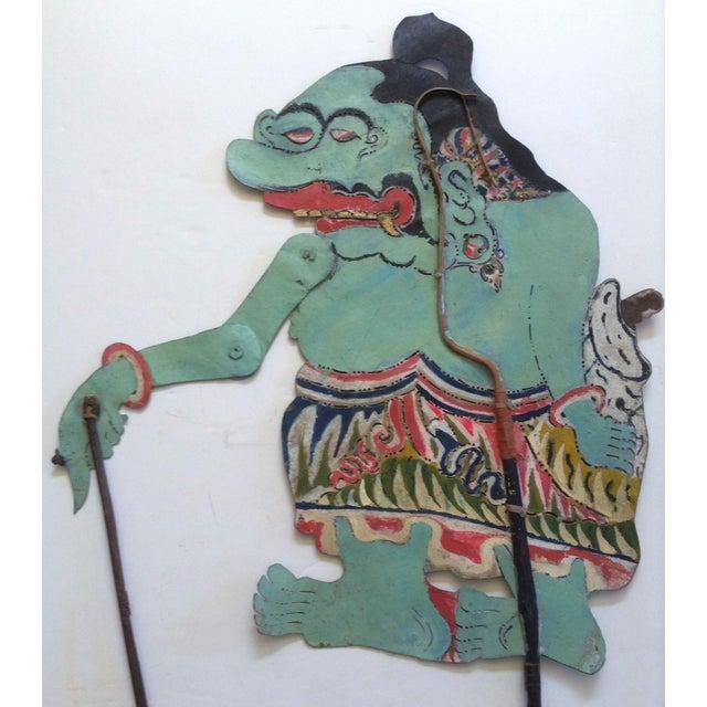Javanese Indonesian Shadow Puppet, Wayang Kulit, Punokawan For Sale - Image 3 of 3
