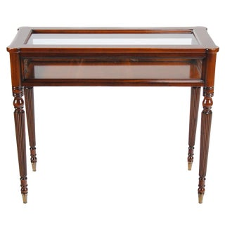 Traditional Sheraton Showcase Cabinet Table For Sale