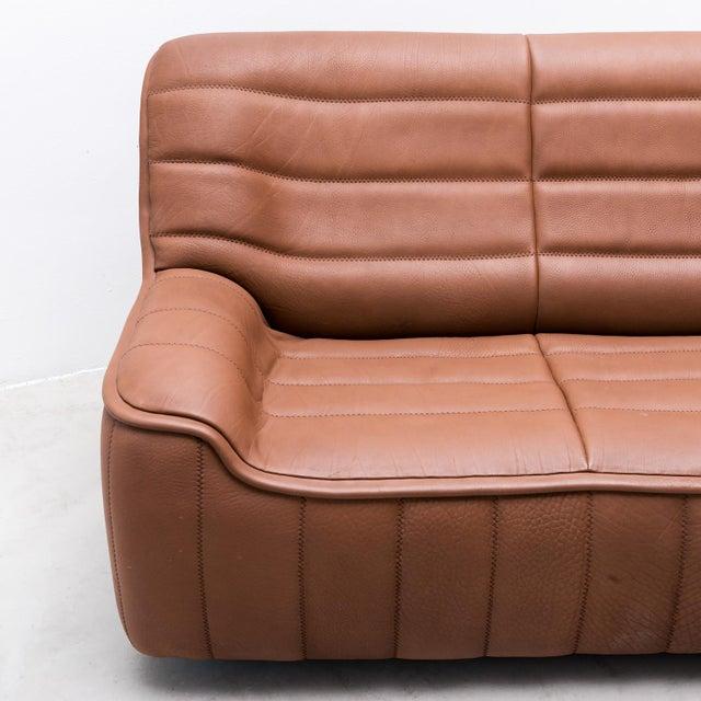 Original De Sede Model Ds84 Sofa in Cognac Buffalo Leather, 1970s For Sale In Santa Fe - Image 6 of 9