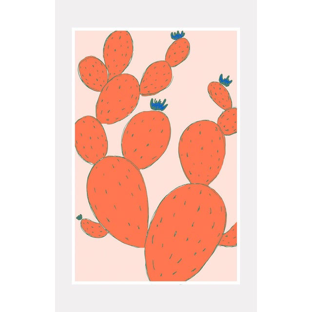 """Illustration Framed Orignal """"Cactus Party"""" Drawing For Sale - Image 3 of 3"""