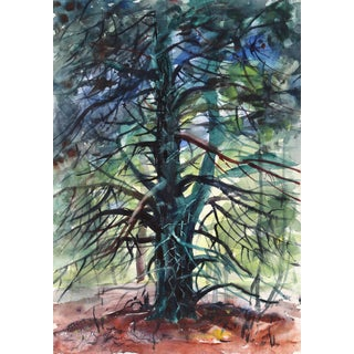 Eve Nethercott, Tree (P5.61), Watercolor on Paper For Sale