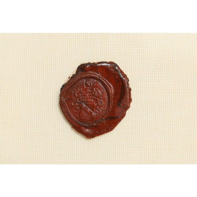 White Antique English Red Wax Seal Intaglios Art, a Pair For Sale - Image 8 of 10