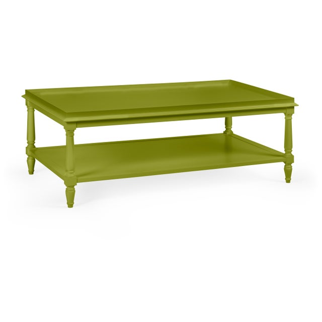 Transitional Casa Cosima Revere Cocktail Table, Dark Celery For Sale - Image 3 of 3