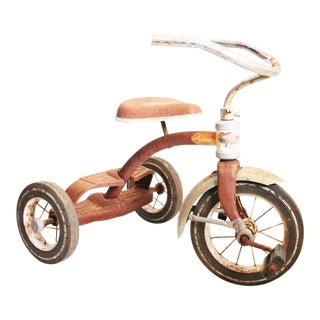 Vintage Rustic Metal Child's Tricycle