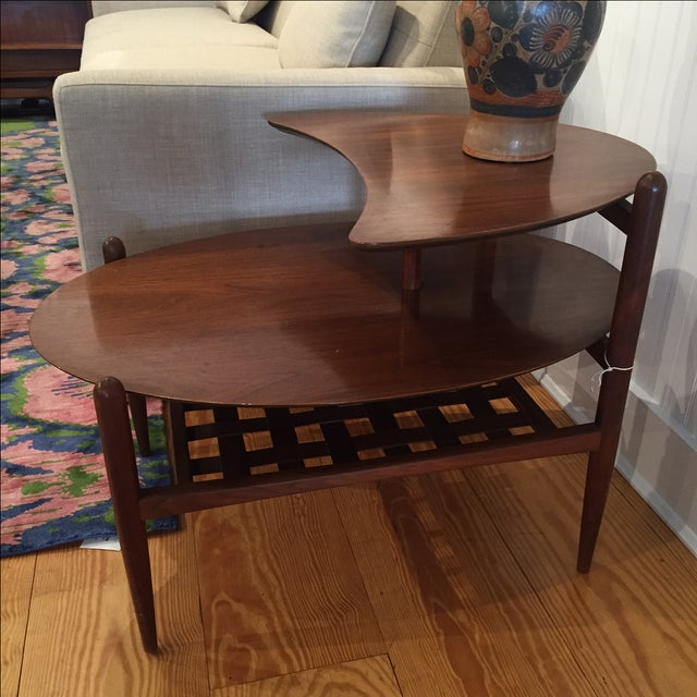 Lane Walnut Side Tables - Pair - Image 4 of 6