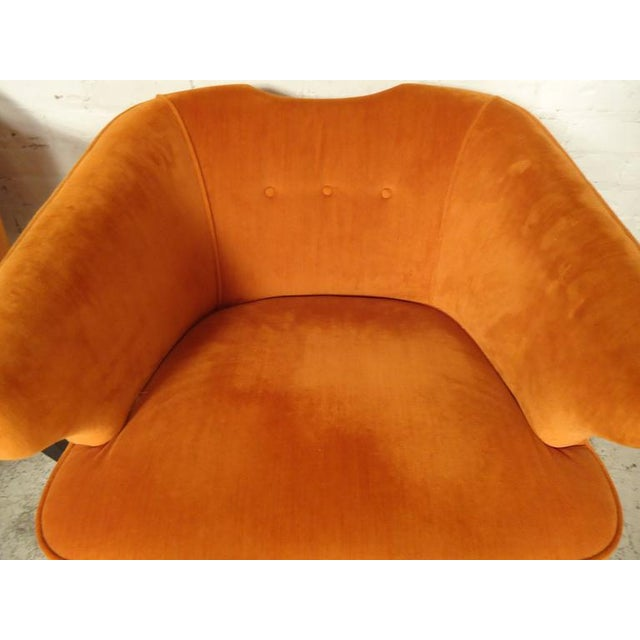 1960s Rare Mid-Century Barrel Back Armchairs - A Pair For Sale - Image 5 of 7