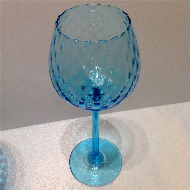 Blue Optic Glass Murano Vases - A Pair - Image 7 of 11