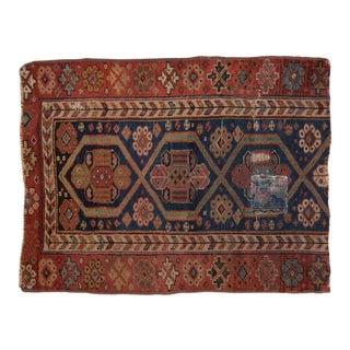 "Antique Fragment Kurdish Square Rug - 2'4"" X 3'1"" For Sale"