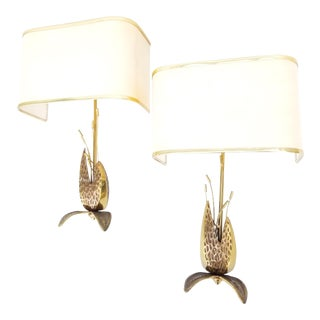 Maison Charles Style Bronze Sconces - a Pair For Sale