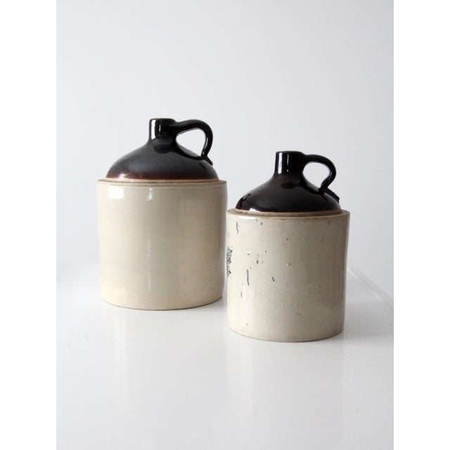 Antique Western Stoneware Jugs - A Pair For Sale - Image 6 of 9
