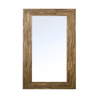 Salvaged Wood Strip Mirror For Sale