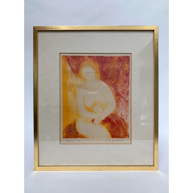 Mid-Century Modern Mother and Child Print by Hiroko Yoshikawa For Sale - Image 10 of 10