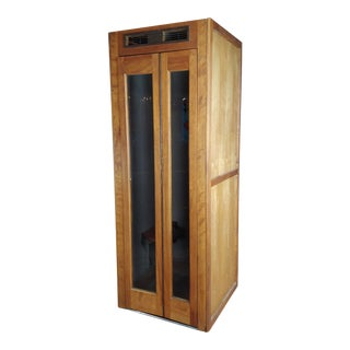 1950s Vintage Wooden Superman Telephone Booth With Phone For Sale