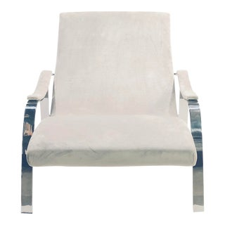 Contemporary Andrew Martin Dove Gray Lounge Chair