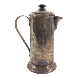 Silverplate French Coffee Press For Sale