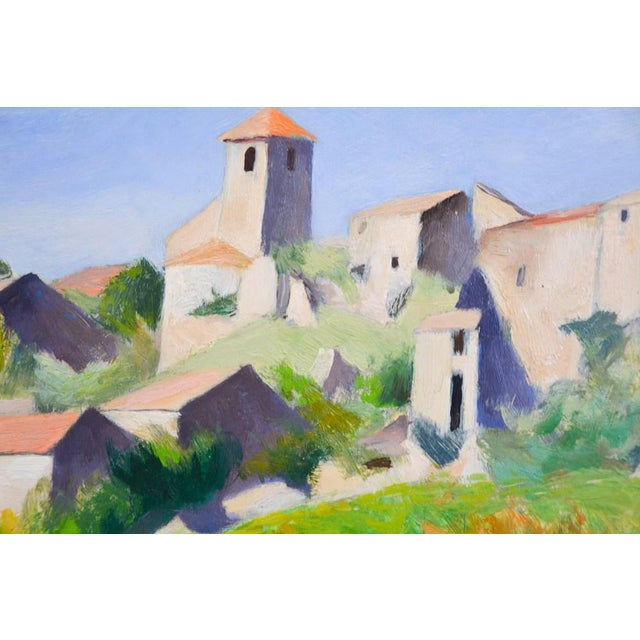 French Countryside Landscape Oil Painting - Hillside in Provence For Sale - Image 4 of 9
