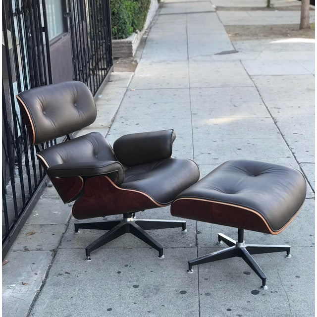 Mid Century Style Lounge Chair and Ottoman For Sale - Image 13 of 13