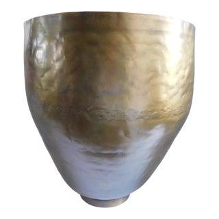 Large Vintage Brass Vintage Vessel For Sale