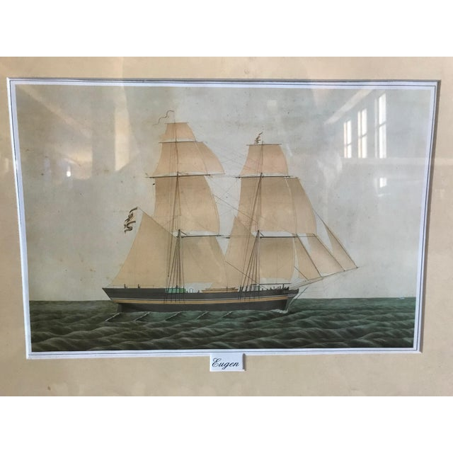 Nautical Eugen Boat at Sea Painting For Sale - Image 3 of 4