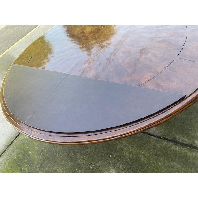 1970s Thierin Round Dining Table With Leaves For Sale - Image 11 of 13