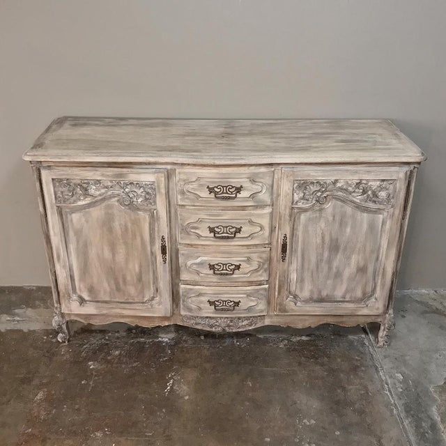 19th Century Country French Normandy Painted Buffet For Sale In Baton Rouge - Image 6 of 13