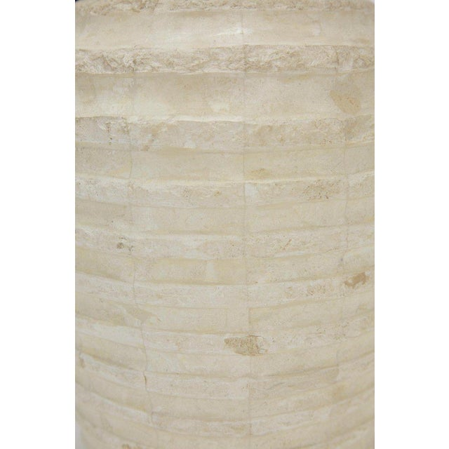 """1990s Postmodern Tessellated Stone Inlaid """"Terraced"""" Vase For Sale - Image 9 of 13"""