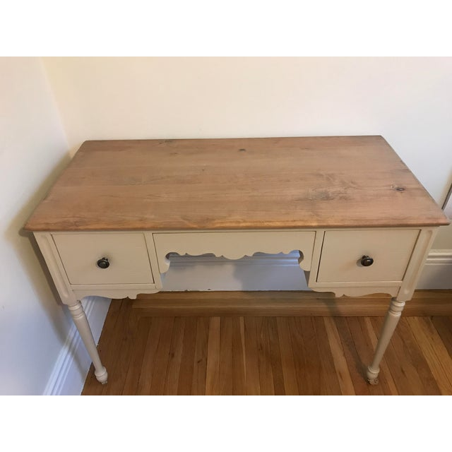 Vintage 3-Drawer Desk - Image 4 of 10
