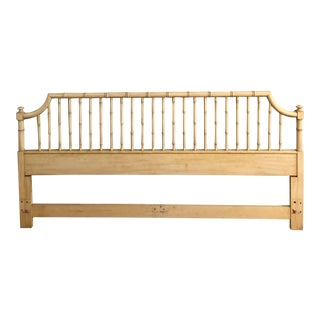 Thomasville Allegro Faux Bamboo King Pagoda Headboard For Sale