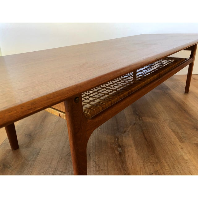 Brown 1950s Danish Mid-Century Modern Low-Profile Coffee Table For Sale - Image 8 of 11