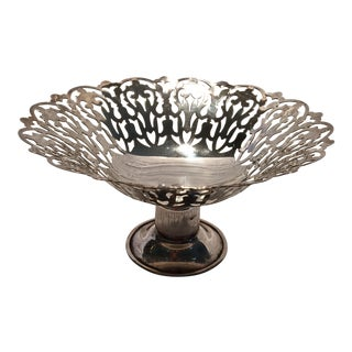 Vintage English APEX Silver Plated Bon Bon Dish For Sale