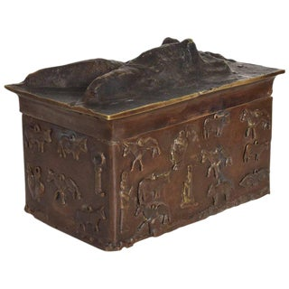 "Bronze Decorative Box Signed ""Toledo"""