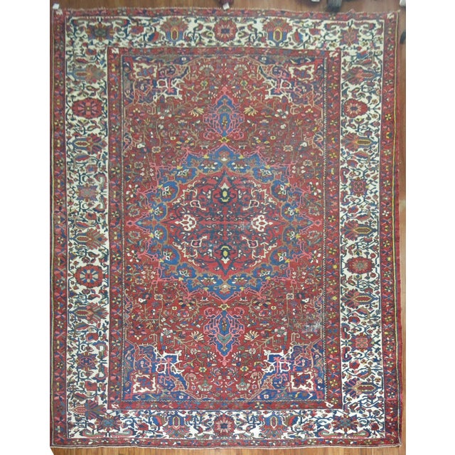 Antique Persian Bakhtiari Rug - 12'3'' X 18'2'' - Image 2 of 9