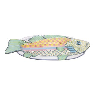 Mackenzie Childs Pottery Hanging Fish Platter For Sale