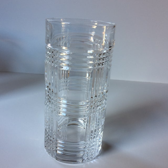 b608dd78b9ec Hollywood Regency Ralph Lauren Glen Plaid Crystal Highball Glasses - Set of  4 For Sale -